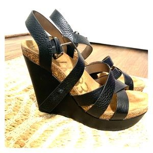 Sam Edelman Black Wedges Size 9